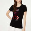 T-shirt with logo and sequins WA0270J5003W9636