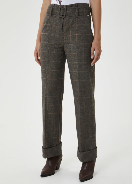 Palazzo trousers with belt WF0406T4523T9151