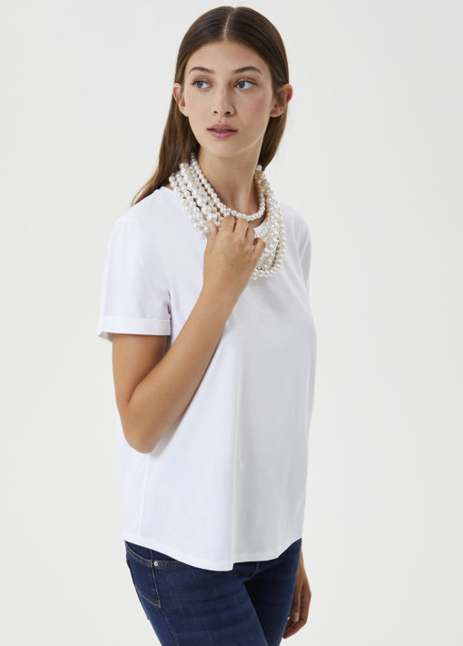 T-shirt with necklace CF0190J913511111