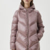 Long quilted down jacket with gemstones LF0019T5603X0328