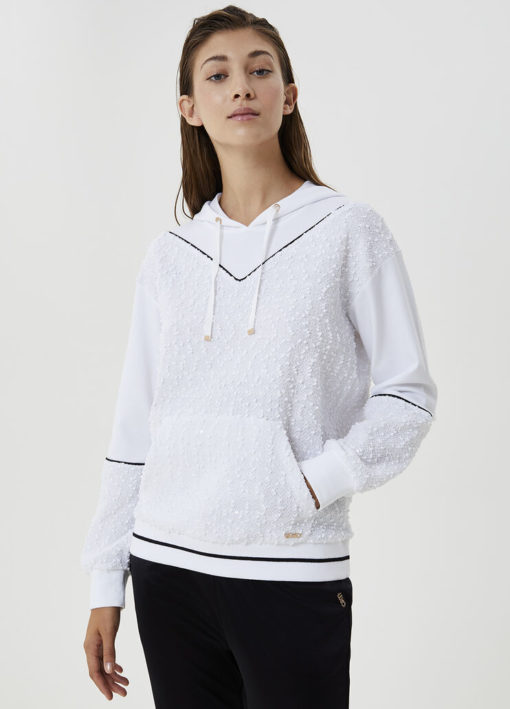 Hooded sweatshirt with embroidery TF0146J608411110