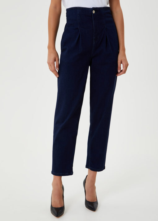 Mom jeans with decorative buckles UF0051D451078098
